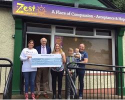 On behalf of Zest healing the hurt of Self-harm and Suicide. We would like to say a heart felt Thank You to the family of Elle Trowbridge (Killyclogher Omagh) for their most generous donation of £450.00 in Memory of Elle . Your Kindness is Gratefully Appreciated. (In photo) presenting the cheque to Margaret Hasson Zest (fundraising volunteer) is Mandy, Gavin ,Connor ,Cían J Maguire (Maguire Funeral Directors Omagh)
